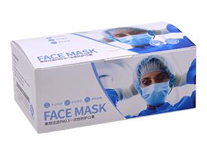 口罩包装彩盒定制,一次性口罩包装盒
